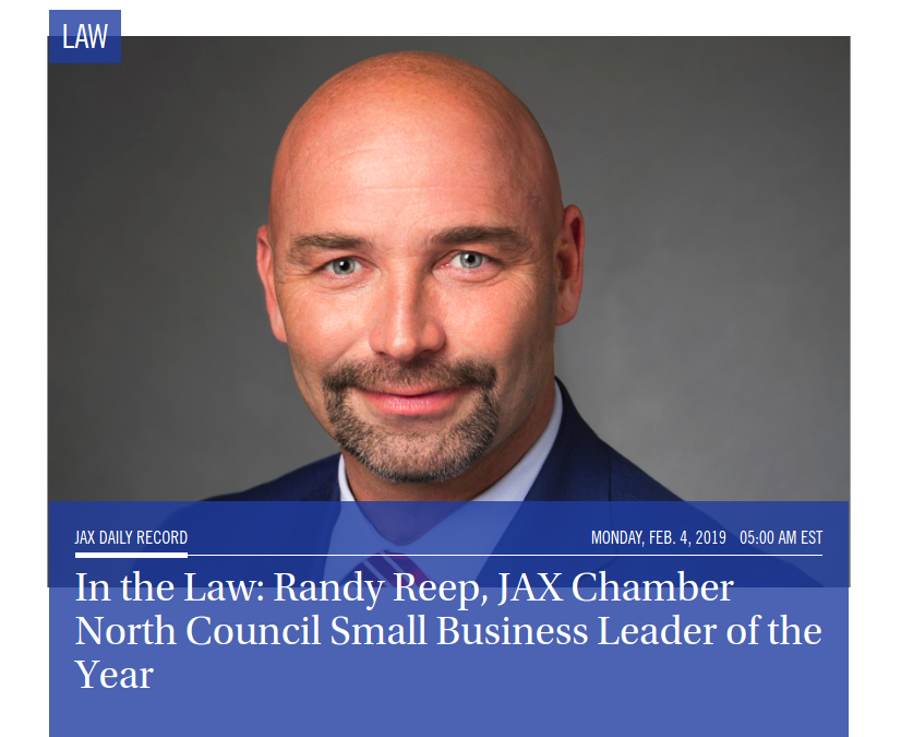 Randy Reep, JAX Chamber North Council Small Business Leader of the Year